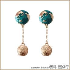 『akiko亞希子』星球宇宙系列海洋女孩耳環