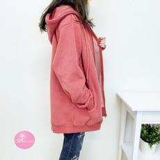 【現貨】韓國拉鍊連帽刷毛 薄外套 女裝 正韓 【Bonjouracc】