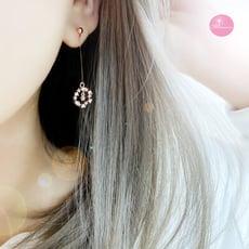 韓國 浪漫星鑽圈 夾式 針式 925銀針 耳環【Bonjouracc】
