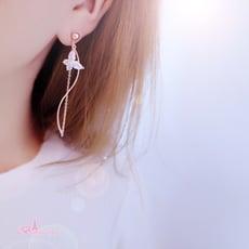 韓國浪漫曲線蝴蝶 夾式 針式 925銀針 耳環 【Bonjouracc】