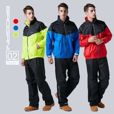 【寶嘉尼 BAOGANI】B02極限跑酷機能二件式雨衣