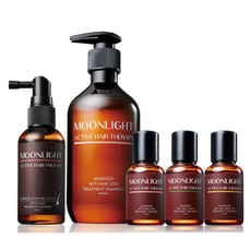 Moonlight 養髮豐盈旗艦組 (洗髮精400ml+養髮液70ml+洗髮旅行組50ml x3)
