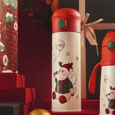 【TD】韓國BEDDYBEAR 杯具熊 浮雕聖誕童趣氣球彈蓋316保溫瓶 彈蓋316不鏽鋼保溫杯