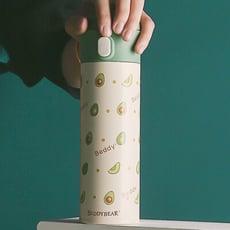 【TD】韓國BEDDYBEAR 杯具熊 浮雕牛油果中透彈蓋316保溫瓶 彈蓋316不鏽鋼保溫杯