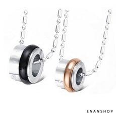 買1送6滾輪設計 鈦鋼項鍊 情侶對鍊 情侶項鍊 不鏽鋼白鋼 項鍊 惡南宅急店7521A