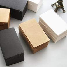 文藝空白牛皮紙卡片 一盒約80張 名片 單詞卡