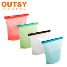 OUTSY 加大款果凍QQ白金矽膠密封食物袋/分裝袋/調理袋