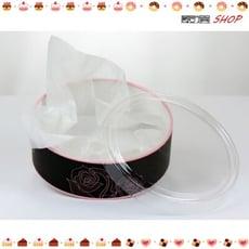 粉色開窗 18CM 附棉紙 乳酪蛋糕盒 起司蛋糕 烘焙紙盒 外帶盒 提拉米蘇 派盒 慕斯【C006】