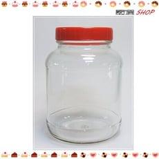 台灣製造 5號瓶 附紅蓋 840cc 果醬瓶 醬菜瓶 干貝醬 玻璃瓶 玻璃罐【T023