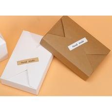 牛皮信封式盒 紙盒 情人節禮物 禮品包裝 牛皮紙盒 餅乾盒 禮品 蛋糕 西點盒 牛軋糖喜糖盒C500
