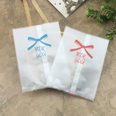 一包98入 25/50/80/100克 蝴蝶結磨砂機封袋 蛋黃酥袋 半透明餅乾袋 熱封袋 月餅袋