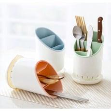 4色馬卡龍筷子收納盒 水漕瀝水籃 瀝水置物架 瀝水架 碗盤架 筷架 廚房收納 置物架 杯架K131