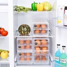 【嚴選SHOP】抽屜式雞蛋收納 24格廚房冰箱雞蛋盒 保鮮盒 塑料雞蛋格 廚房收納 食物保鮮盒 雞蛋