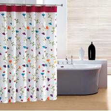 時尚加厚型防水印花浴簾+浴簾桿-12色