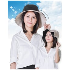 雙面透氣小臉遮陽帽 日系雙面拼色摺疊遮陽帽 大帽沿