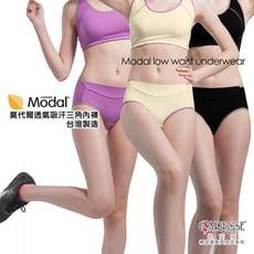 15018 (M -XL) 莫代爾透氣吸汗內褲-黑