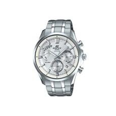 CASIO卡西歐 EDIFICE藍寶石玻璃銀黑不鏽鋼手錶(EFB-550D-7A)