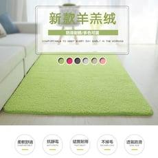 日式羊羔絨可水洗地毯80x160cm(6色)