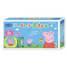 正版授權佩佩豬安全無毒小麥黏土 - 8罐黏土