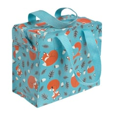 英國 Rex London 學生環保便當袋/野餐袋/手提袋/萬用袋_溫柔狐狸_RL25307