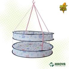 【HIKOYA】彩色印花雙層加高防掉落曬衣網 1入(毛衣不變形、枕頭、襪類、絨毛玩具最好晾曬)