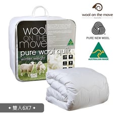 【澳洲Wool on the Move】國際羊毛局認證100%純羊毛被雙人加厚加重款3.8公斤 標準