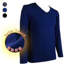 SOFT LIGHT - 男士輕量柔軟蓄溫發熱衣(V領)