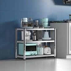 不鏽鋼三層置物架寬60cm-收納櫃 置物櫃 廚房架  儲物架 落地架