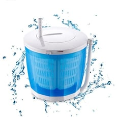 手搖洗衣機 迷你小型脫水機 甩乾器 洗脫兩用半自動洗衣機
