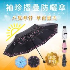 超迷你輕量八骨支架抗UV五折晴雨傘