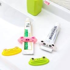 【A-HUNG】卡通動物造型擠牙膏器 牙膏擠壓器 洗面乳擠壓器 擠洗面乳器 擠膏器 多功能擠壓器