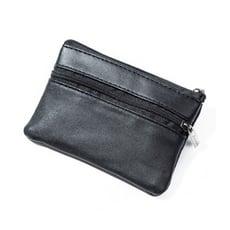【A-HUNG】時尚皮質零錢包 拉鍊式皮包 皮夾 零錢袋 卡片收納包