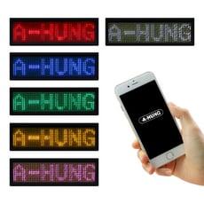 無線LED迷你字幕機 藍牙字幕機 LED 跑馬燈 藍芽字幕機 LED胸牌 USB電子名牌卡