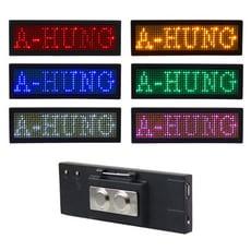 【8種特效】LED迷你字幕機 USB充電式 LED 跑馬燈 LED胸牌 電子名片字幕機 LED字幕機