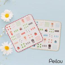 【貝柔】台灣製純棉抗菌紗布小方巾(新三小豬)