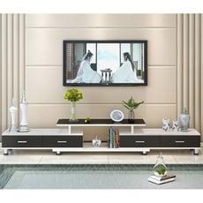 星洋家居 鋼化玻璃伸縮電視櫃 茶幾組合 簡約現代歐式 小戶型 客廳電視機櫃 電視櫃 收納櫃 置物櫃