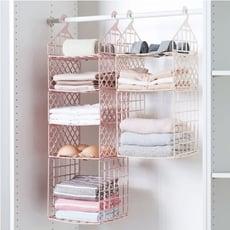 一件免運寢室衣櫃分層收納架多層衣物整理架臥室宿舍衣服挂籃置物架儲物架