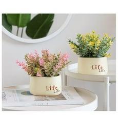 ins綠植北歐假草盆栽仿真植物裝飾室內假花盆景小擺件桌面窗臺