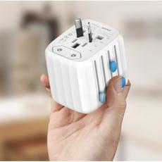 zendure passport全球通用轉換插頭出國旅行多功能插座usb充電器 - 白色