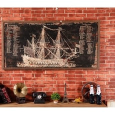 紫蘭軒*免運美式創意客廳房間墻飾復古工業風咖啡廳酒吧墻上奶茶店裝飾品 包郵 帆船掛畫 酒吧裝飾品 -