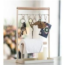 北歐極簡風創意鐵藝掛件架首飾架鑰匙架 帶紙巾架雜物收納架