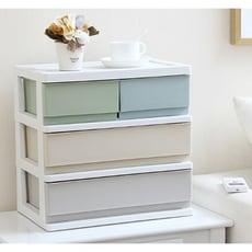 辦公桌面收納盒塑料多層小抽屜式文件化妝品收納櫃雜物飾品整理箱