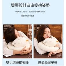 小學生午睡枕午休枕趴睡枕著學生抱枕兒童辦公室桌上可愛卡通枕頭