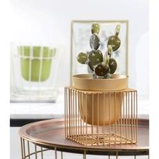 一件免運 北歐ins輕奢金色幾何創意桌面綠蘿花架花盆陽臺裝飾擺件 - 金色