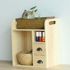 創意桌面辦公抽屜式收納盒 實木臥室雜物置物架辦公室書桌整理盒 收納 收納架