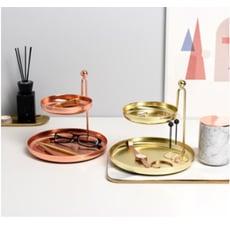 北歐風ins雙層金屬首飾 收納架 桌面置物架 飾品 展示架