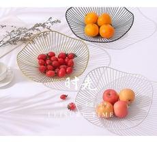 ins北歐創意家居鐵藝水果蔬菜零食客廳家用收納籃現代簡約水果盤