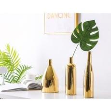 紫蘭軒*免運北歐ins金色電鍍工藝品陶瓷花瓶樣板房家居裝飾品擺件