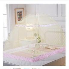 一件免運 嬰兒小床蚊帳長140 150 160寬80 70cm兒童蒙古包免安裝有底幼稚園 寶寶蚊帳多
