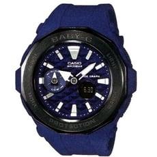 【CASIO】BABY-G 海灘概念風格休閒運動錶 藍X黑框(BGA-225G-2A)